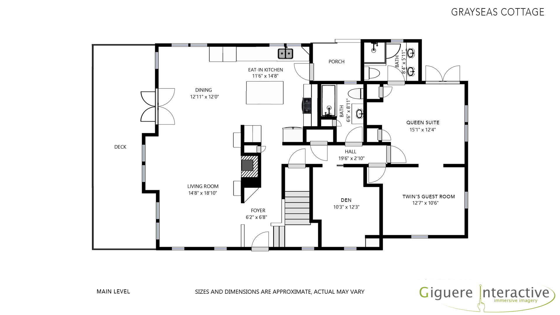 Floor Plan for GraySeas Cottage
